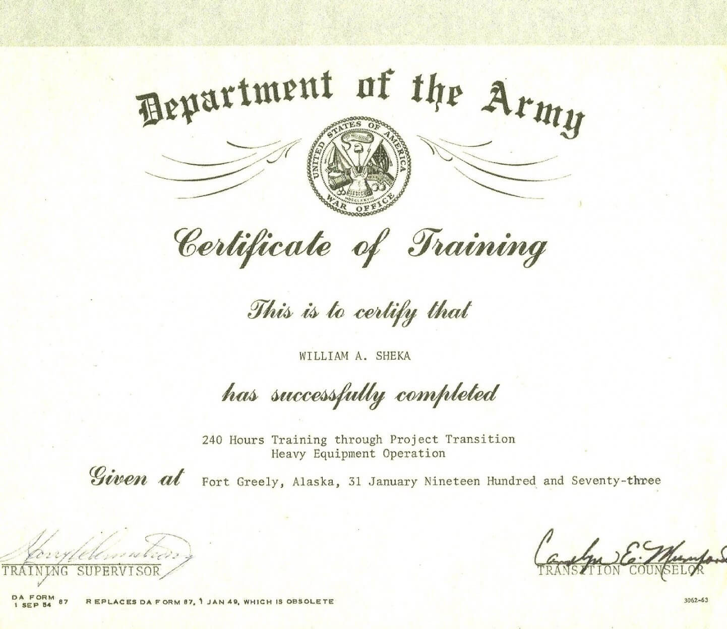 Editable Army Certificate Of Training Template Within Army Certificate Of Completion Template