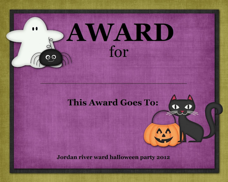 Editable Halloween Costume Awards Hashtag Bg Costume Contest Inside Halloween Costume Certificate Template