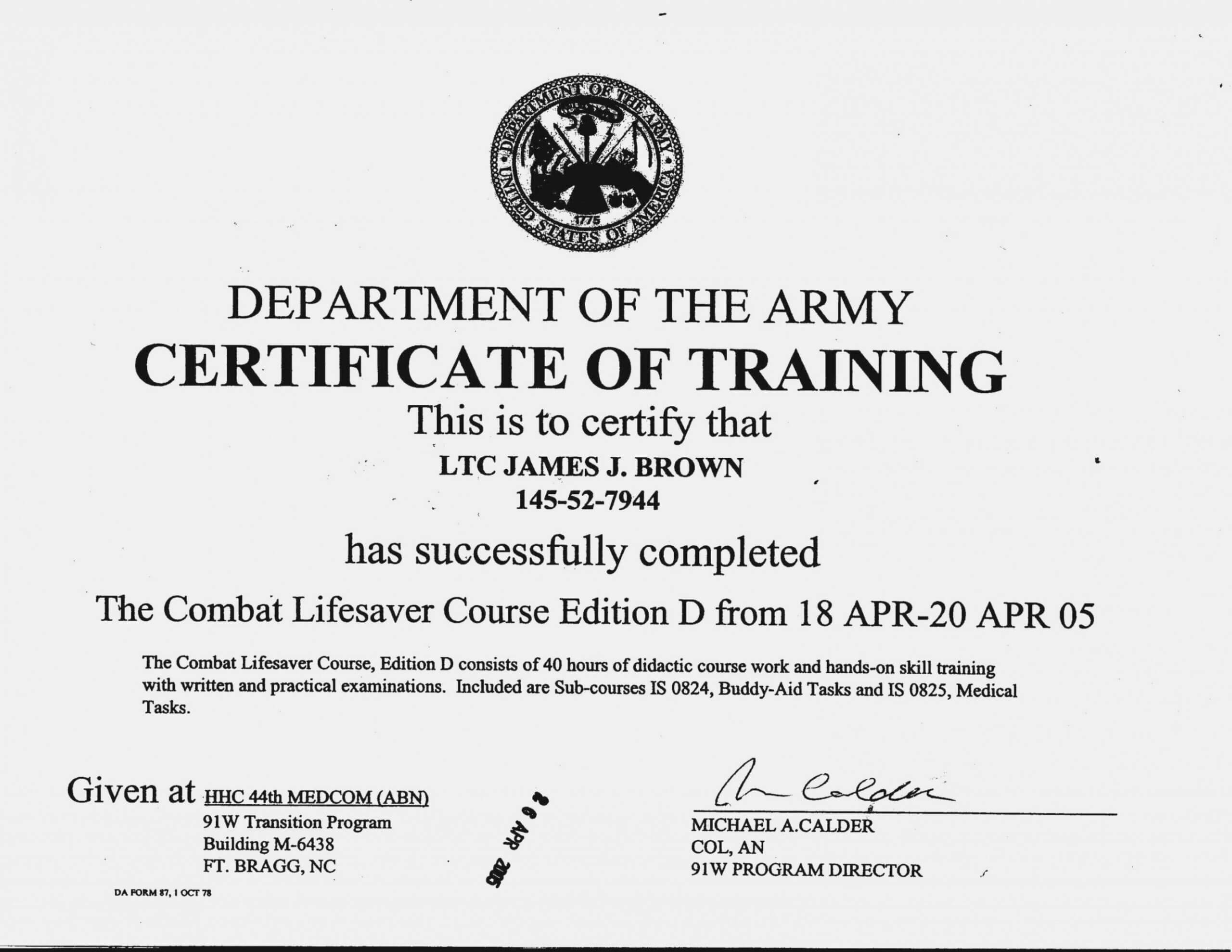 Editable Ideas Of Army Drivers Training Certificate Template In Army Certificate Of Completion Template