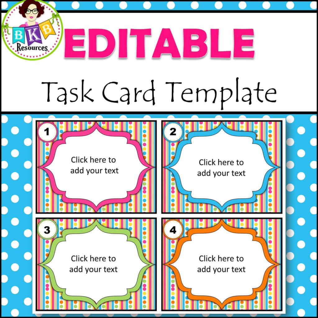 Editable Task Card Templates - Bkb Resources With Regard To Task Card Template