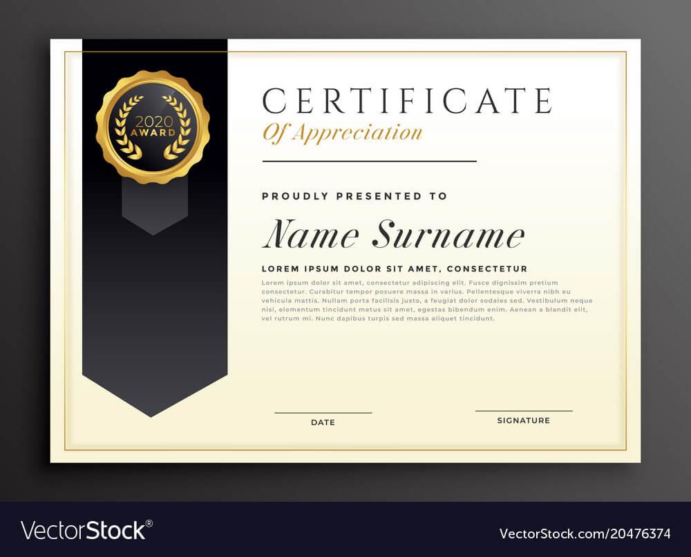 Elegant Diploma Award Certificate Template Design Throughout Award Certificate Design Template
