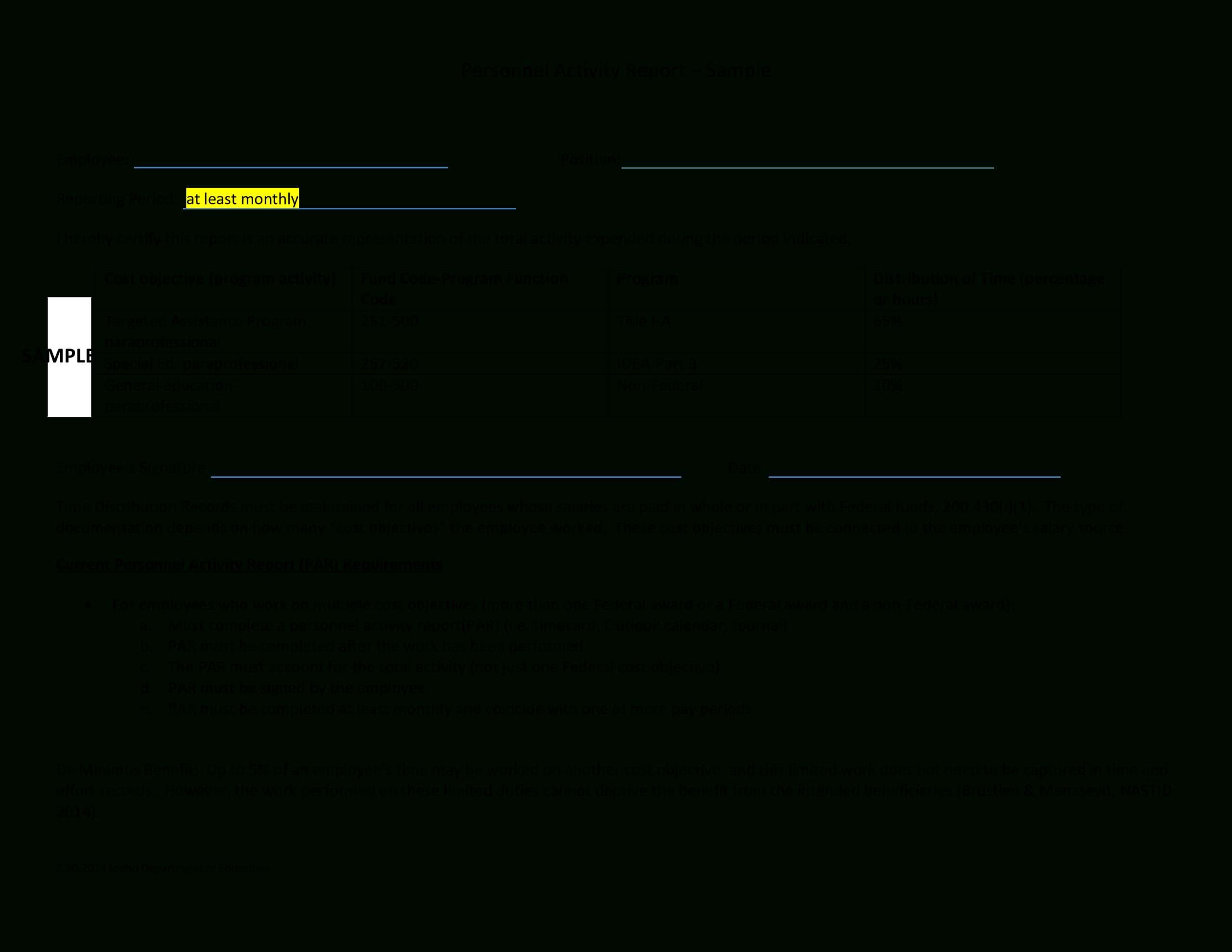 Employee Monthly Activity Report | Templates At With Monthly Activity Report Template