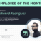 Employee Of The Month Certificate Of Recognition Template In Employee Of The Month Certificate Template