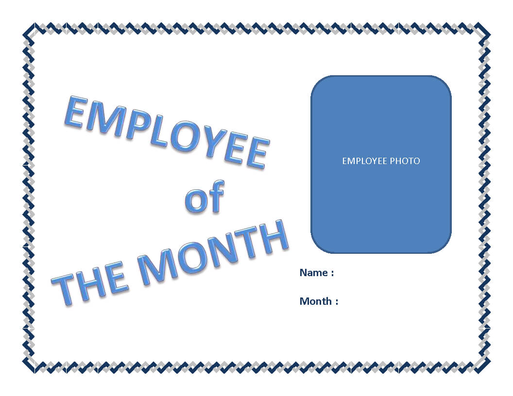 Employee Of The Month Certificate Template | Templates At Pertaining To Employee Of The Month Certificate Template With Picture
