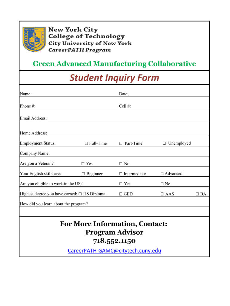 Enquiry Form Format - Fill Online, Printable, Fillable With Enquiry Form Template Word