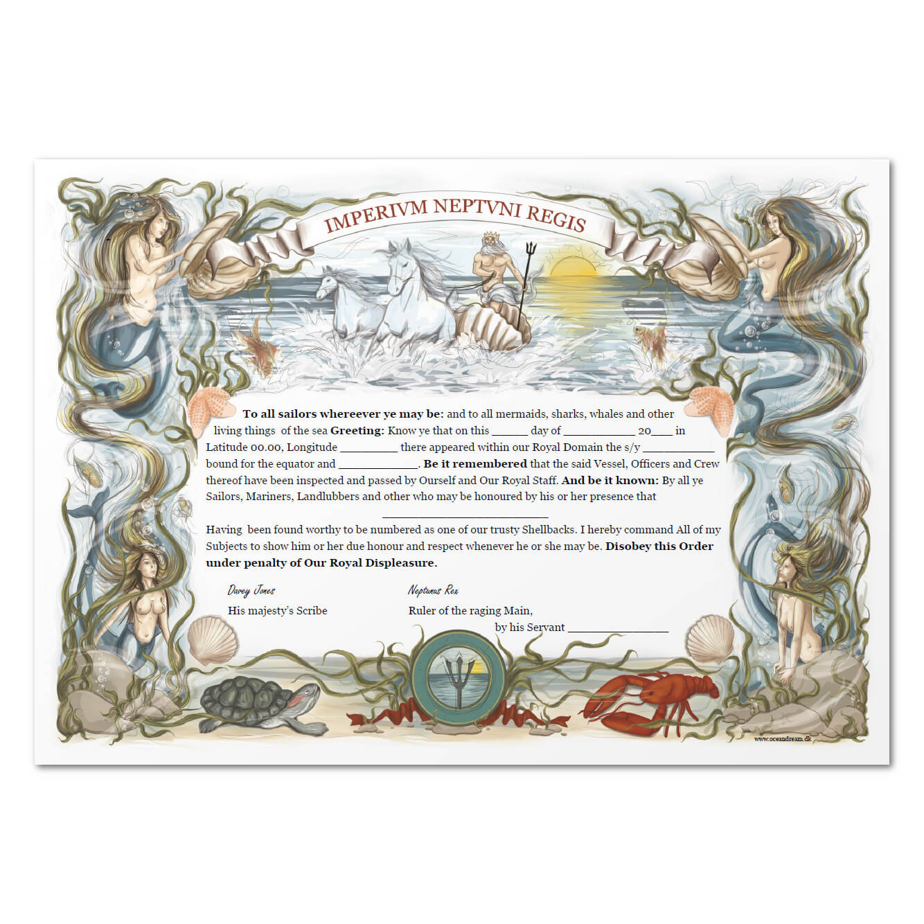 Equator Certificate In Crossing The Line Certificate Template