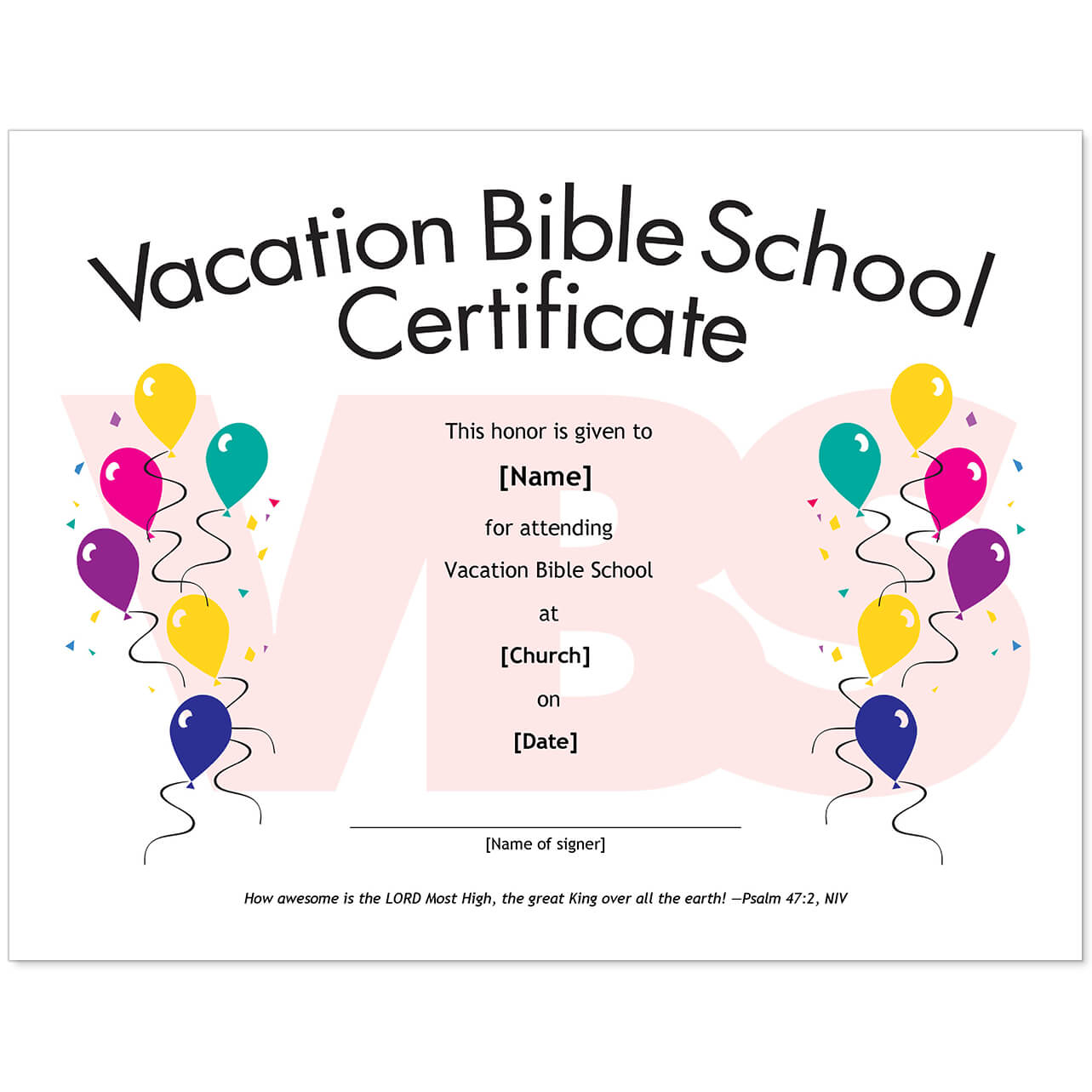 Essential Church Certificates - Children's Edition Throughout Free Vbs Certificate Templates