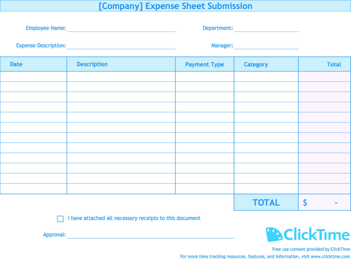 Expense Report Template | Track Expenses Easily In Excel In Company Expense Report Template