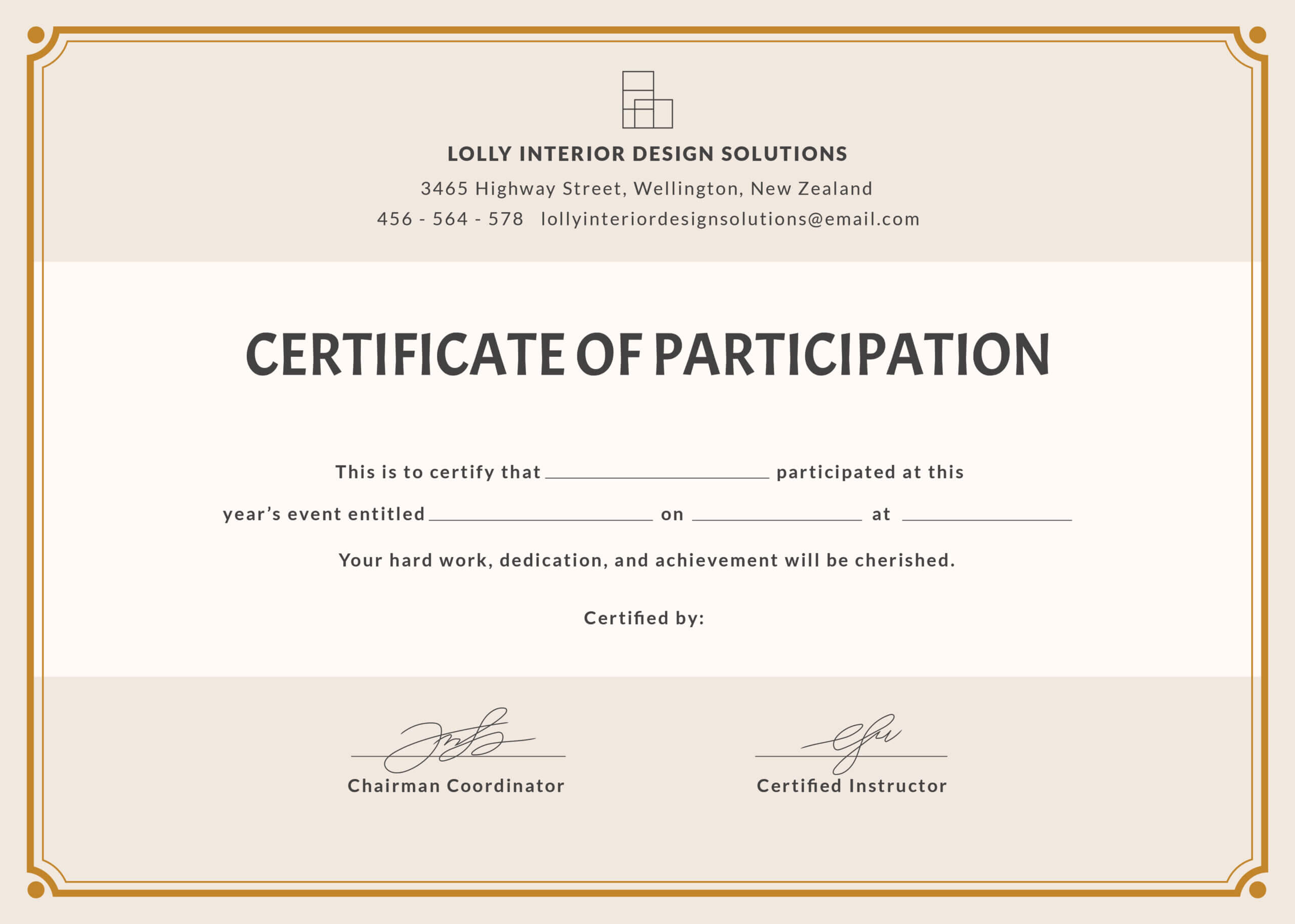 🥰free Printable Certificate Of Participation Templates (Cop)🥰 For Certification Of Participation Free Template