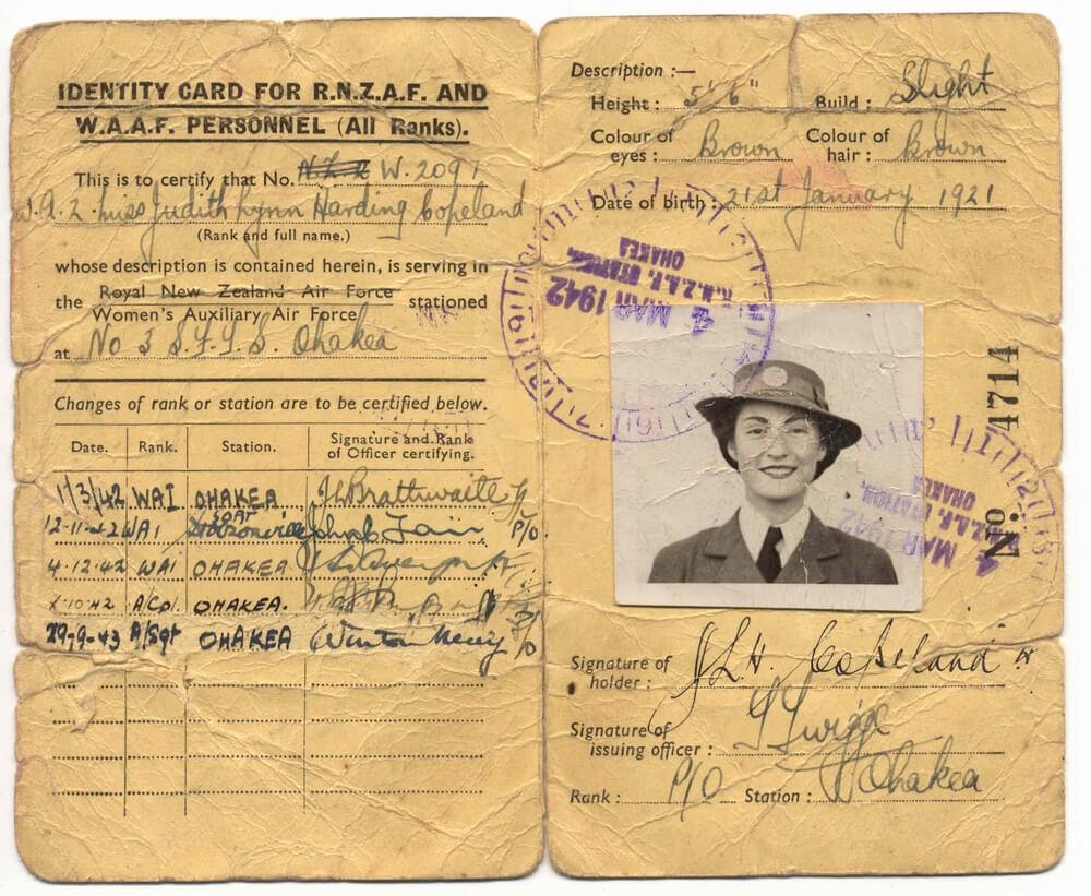 File:waaf Rnzaf 1921 - Wikimedia Commons Within World War 2 Identity Card Template