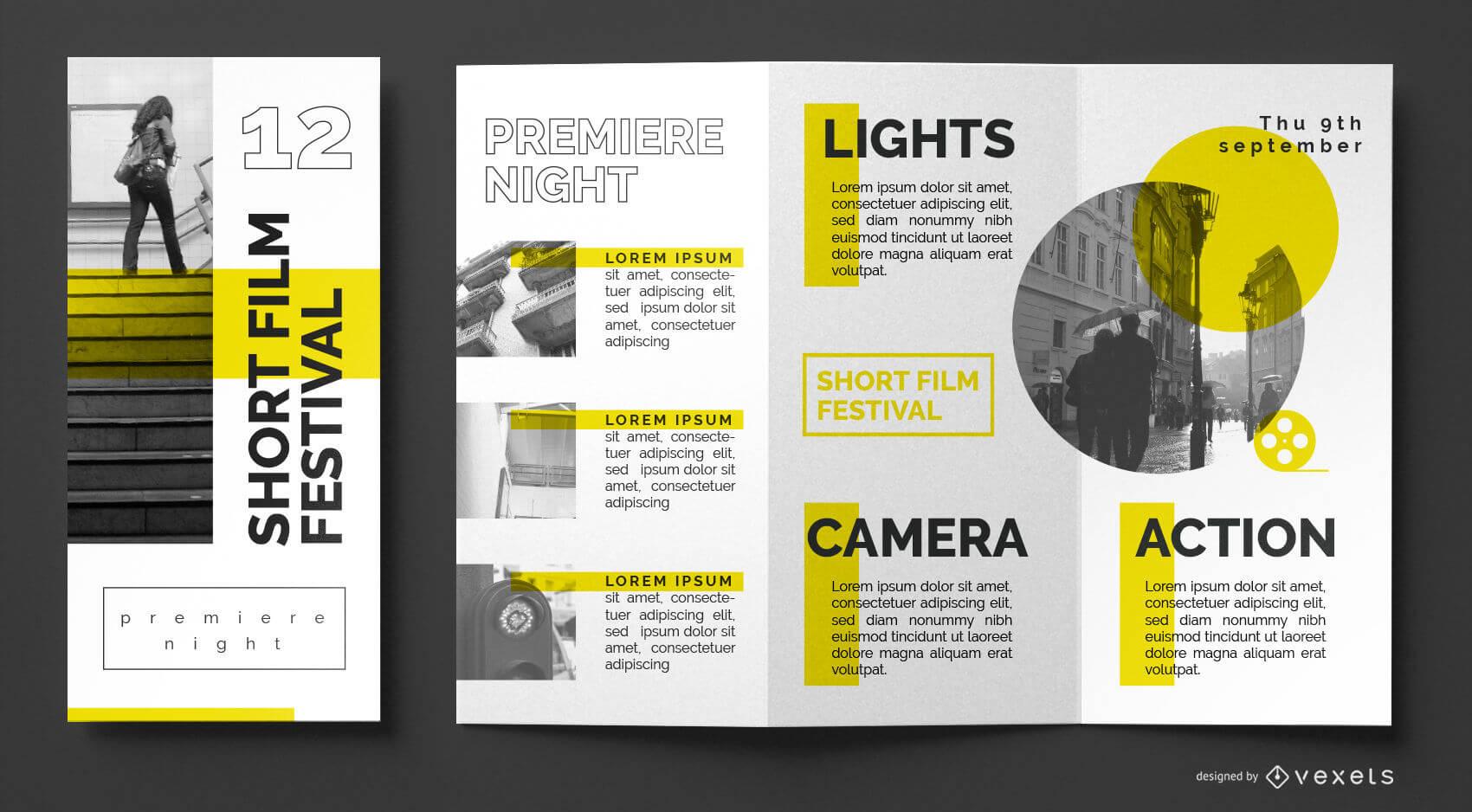 Film Festival Brochure Template - Vector Download Regarding Film Festival Brochure Template