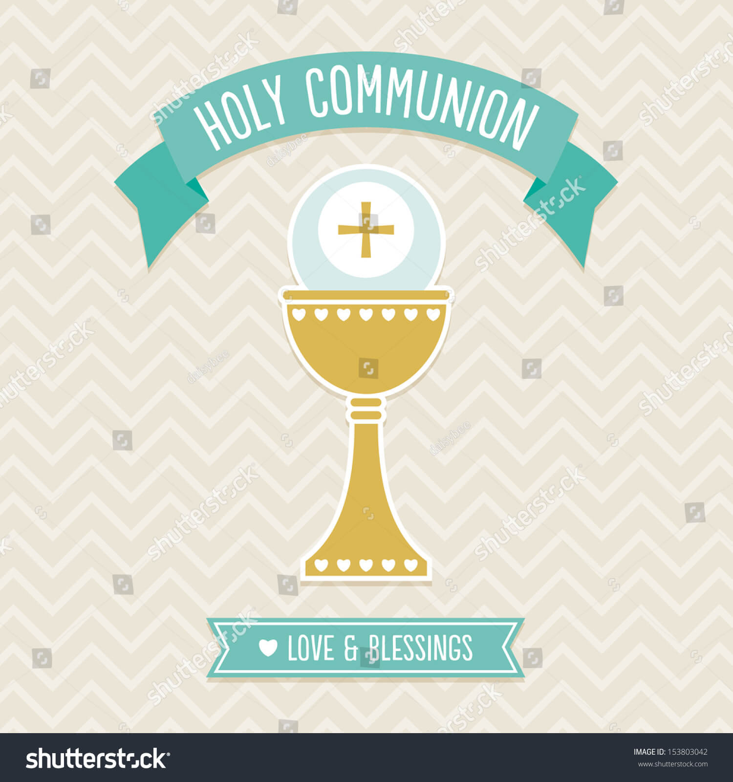 First Holy Communion Card Template Cream Stock Illustration Regarding First Holy Communion Banner Templates