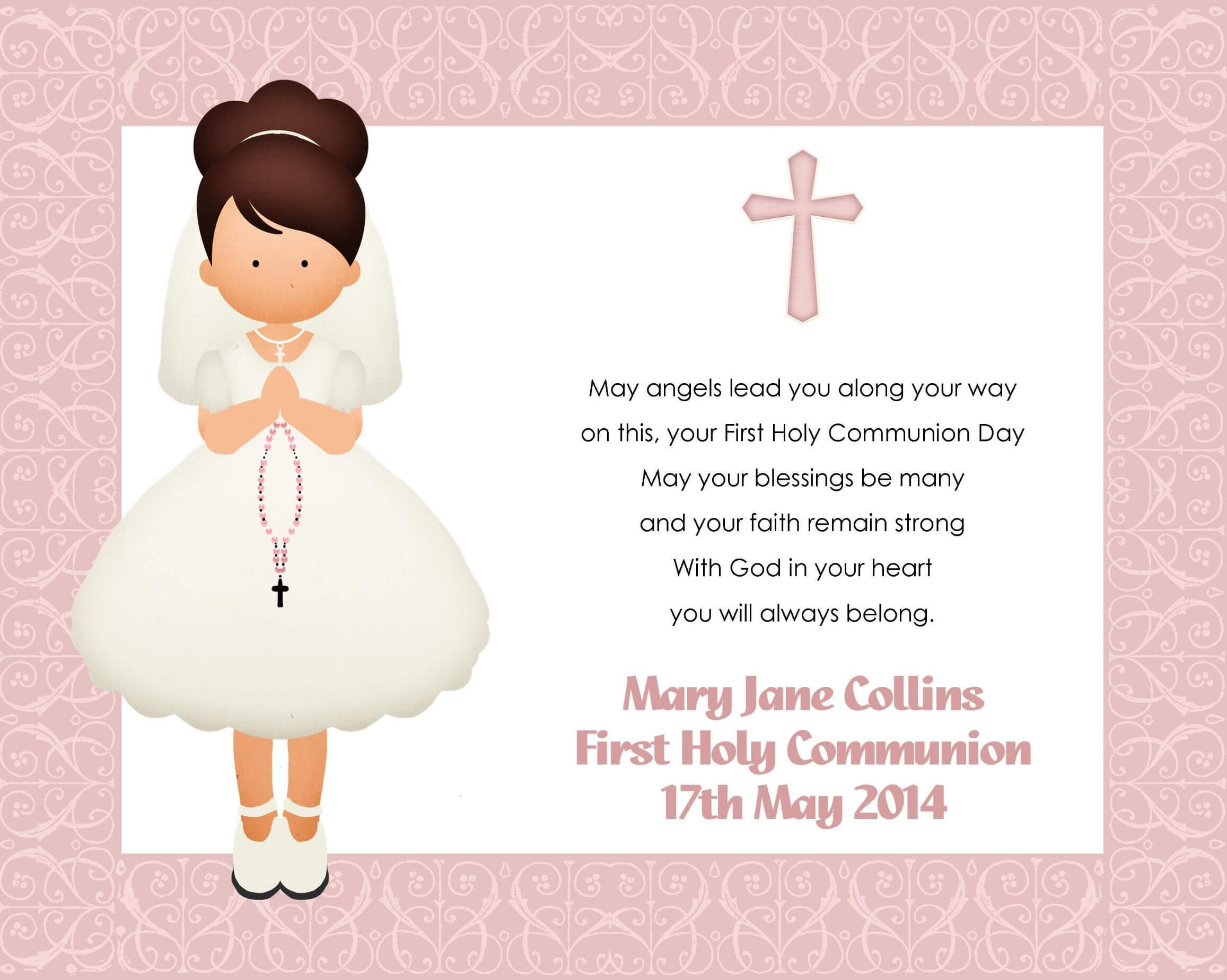 First Holy Communion Cards Printable Free That Are With Regard To Free Printable First Communion Banner Templates