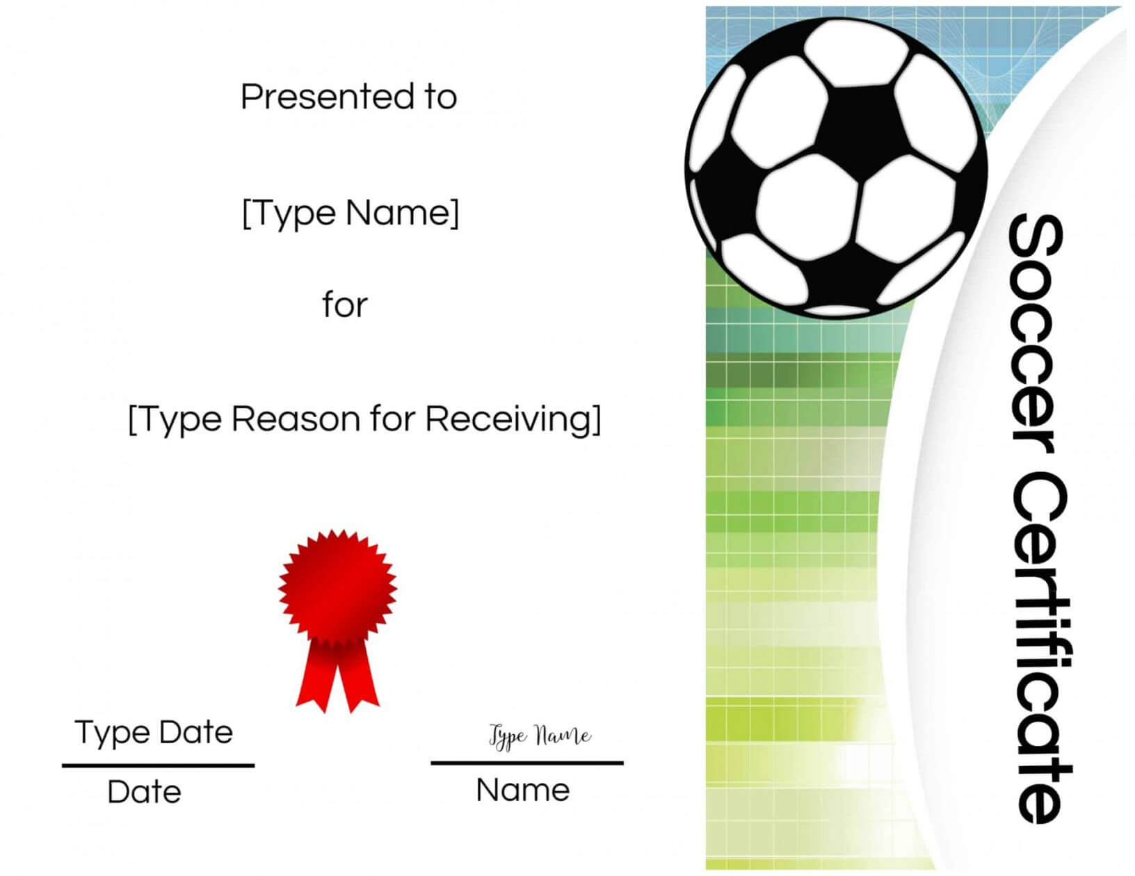 Five Top Risks Of Attending Soccer Award Certificate Regarding Soccer Certificate Templates For Word