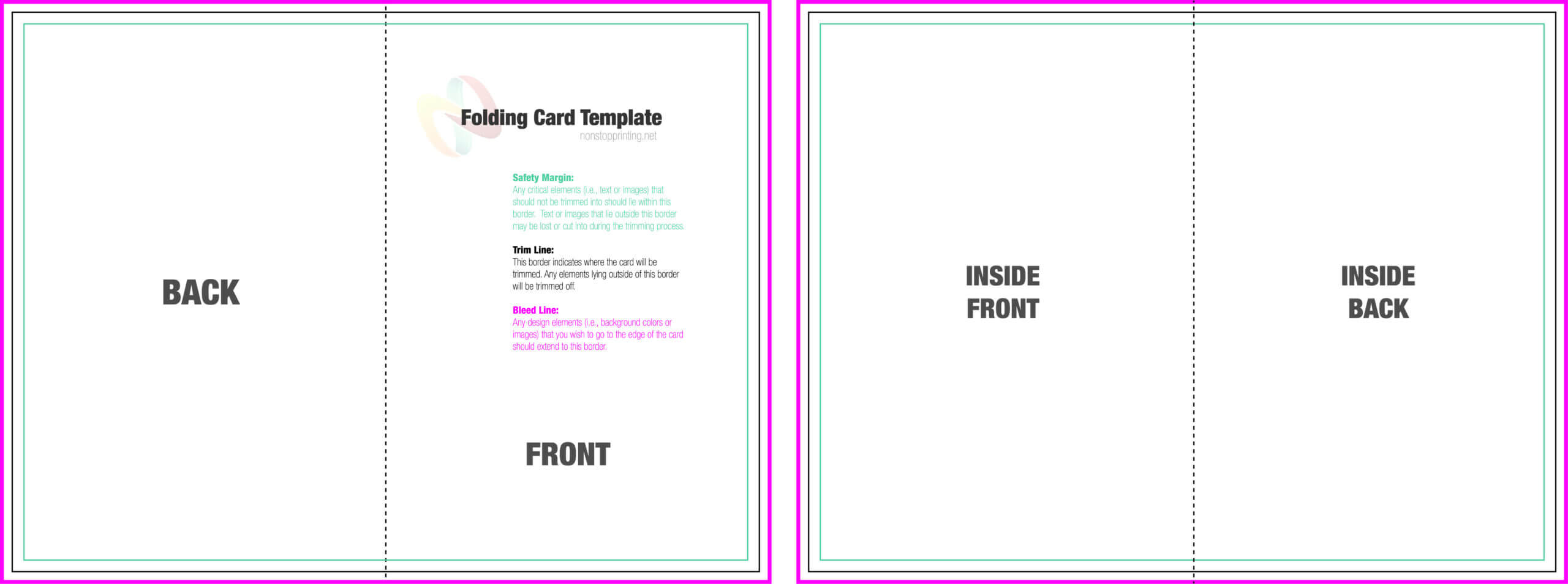 Folded Cards Template - Yatay.horizonconsulting.co Throughout Half Fold Greeting Card Template Word