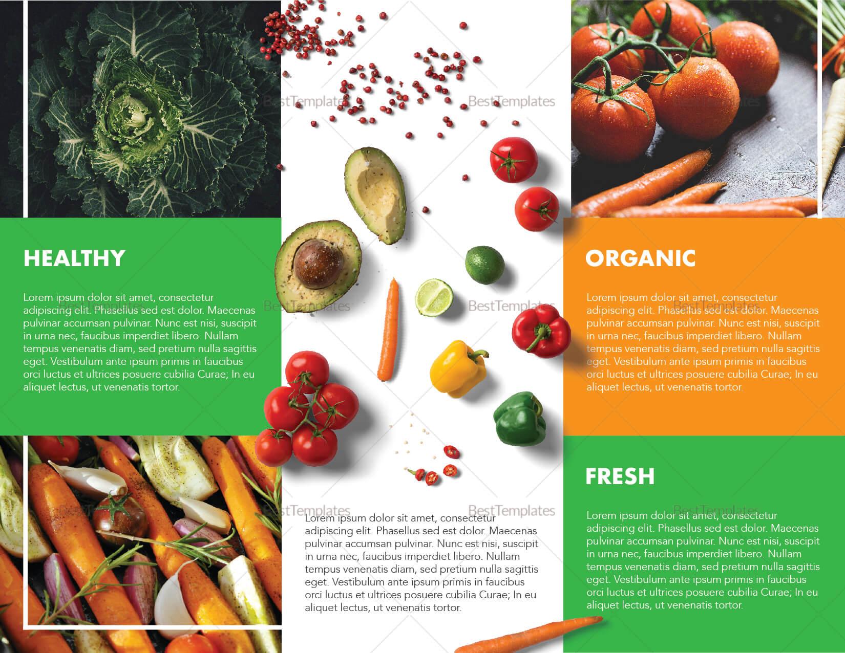 Food Brochure Template Inside Nutrition Brochure Template