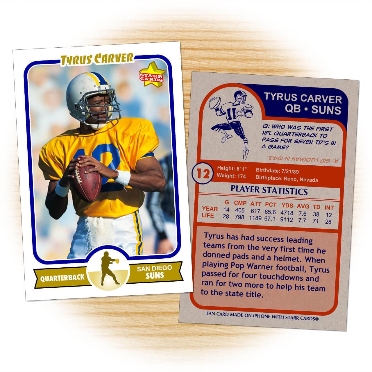 Football Trading Card Template. Football Card Template From Regarding Soccer Trading Card Template