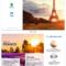 France Travel Tri Fold Brochure Regarding Word Travel Brochure Template