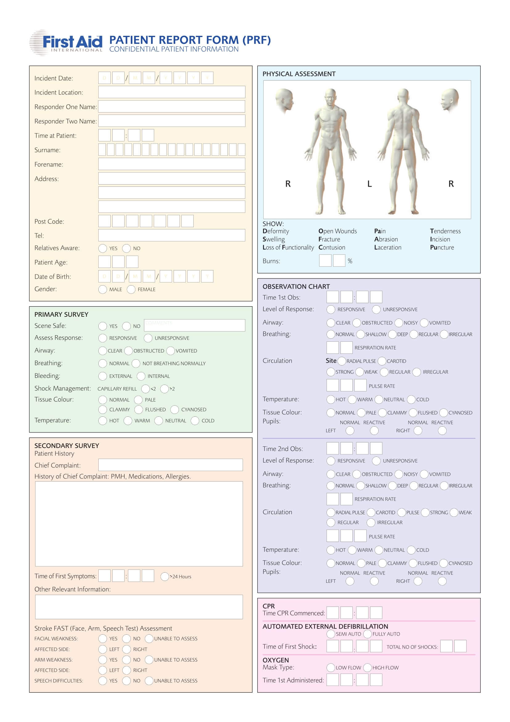 Free 14+ Patient Report Forms In Pdf   Word Inside Patient Report Form Template Download
