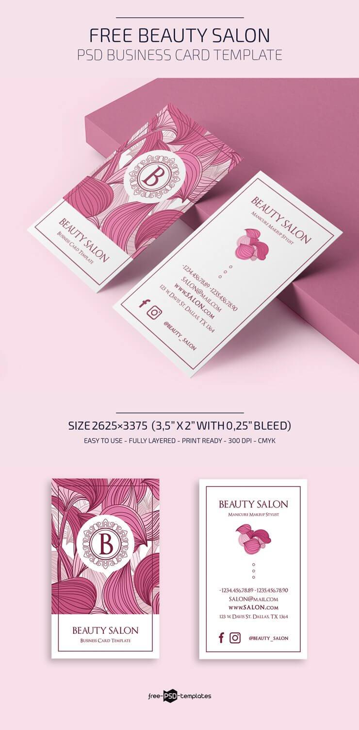 Free Beauty Salon Business Card Template | Free Psd Templates Inside Hairdresser Business Card Templates Free