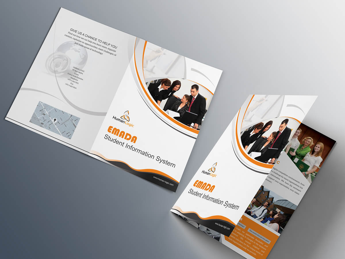 Free Bi Fold Brochure Psd On Behance Throughout 2 Fold Brochure Template Psd