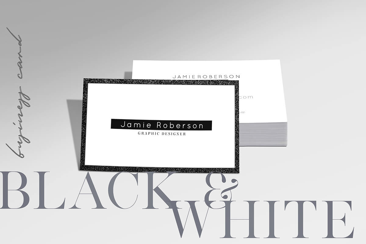 Free Black And White Business Card Psd Template – Creativetacos Intended For Black And White Business Cards Templates Free