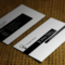 Free Black And White Business Card Template within Call Card Templates