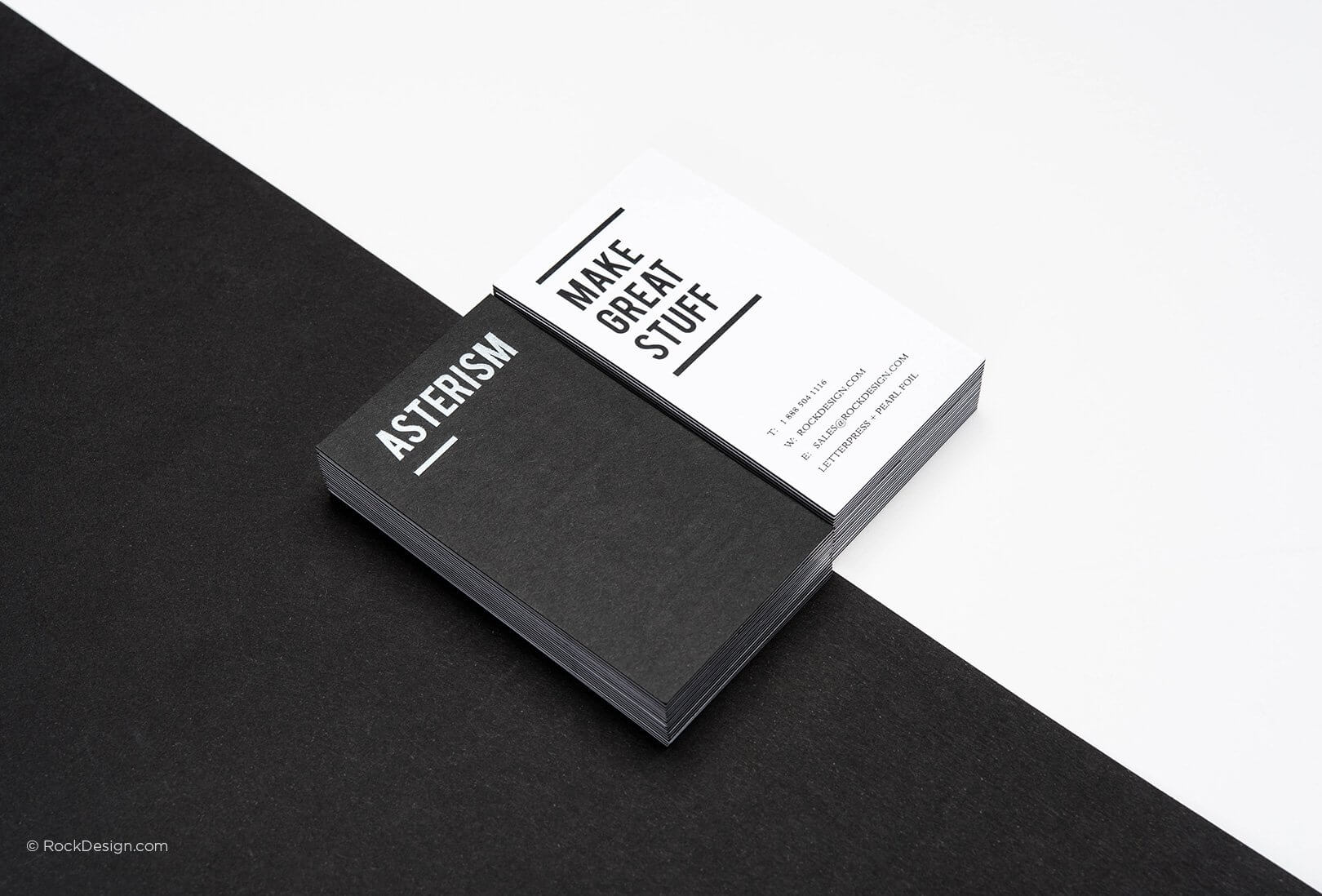 Free Black And White Business Card Templates | Rockdesign Regarding Black And White Business Cards Templates Free