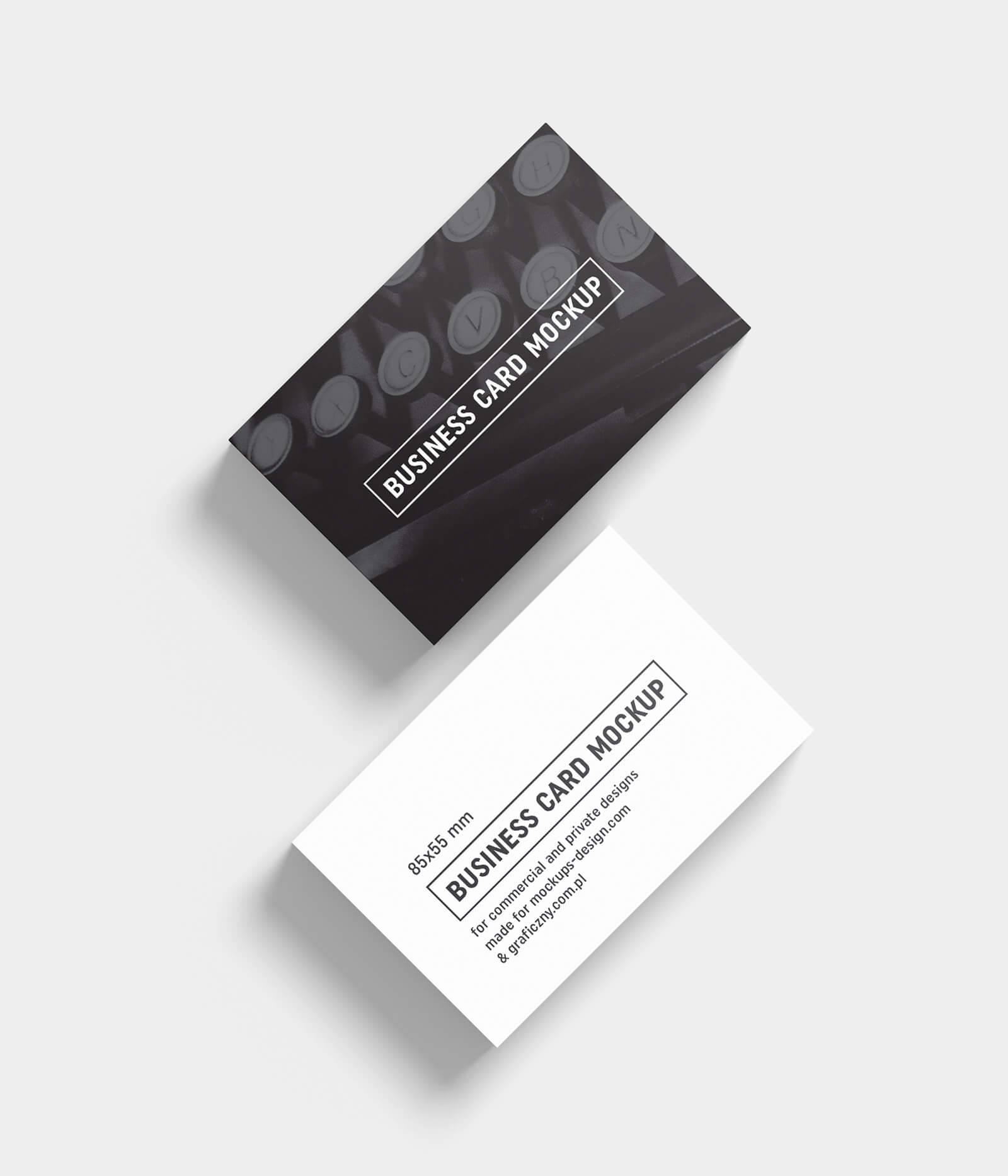 Free Black & White Business Card Mockup Psd Templates – Good For Black And White Business Cards Templates Free