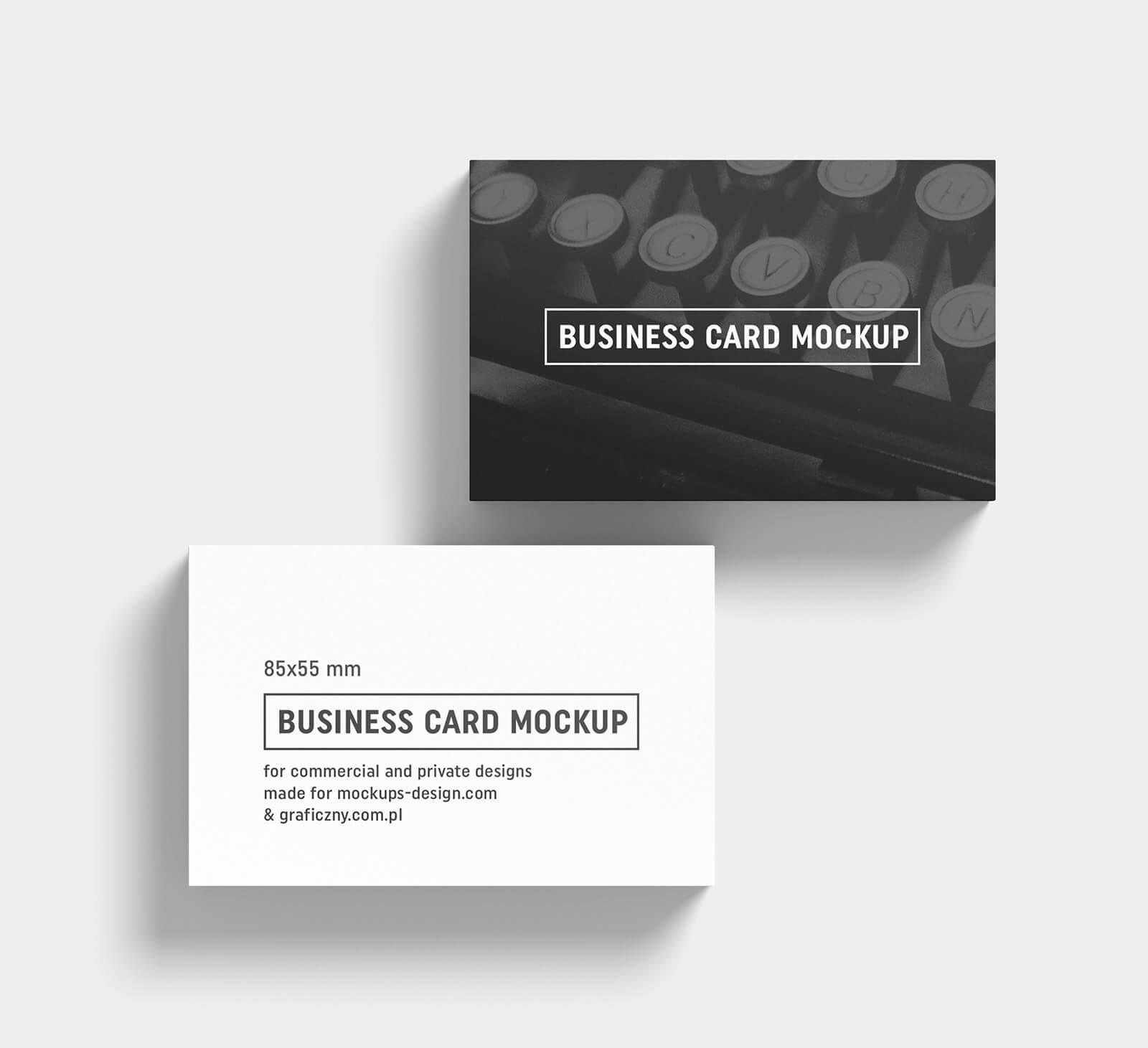 Free Black & White Business Card Mockup Psd Templates – Good Inside Black And White Business Cards Templates Free
