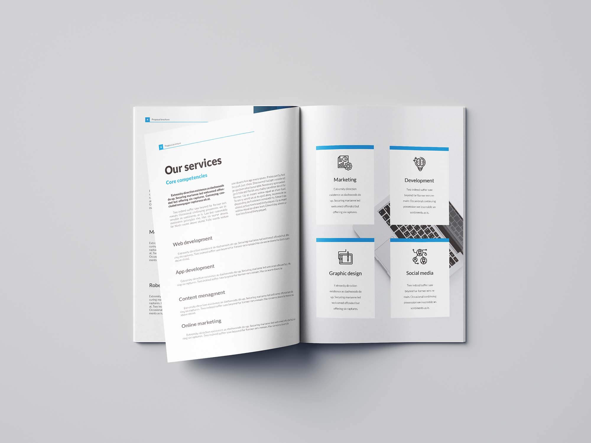 Free Business Proposal Template (Indesign) Within Brochure Template Indesign Free Download
