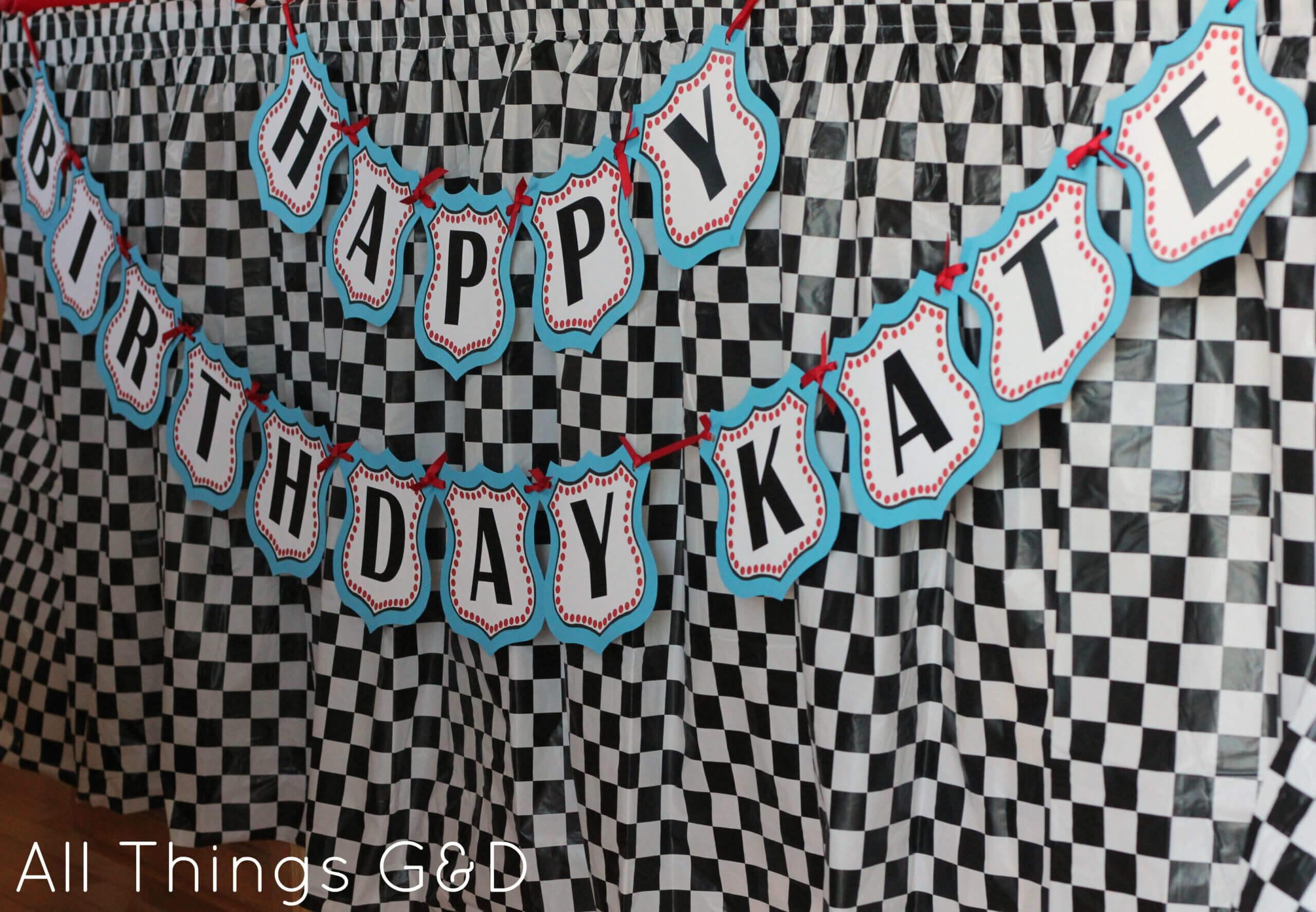 Free Cars Birthday Party Printables Regarding Cars Birthday Banner Template