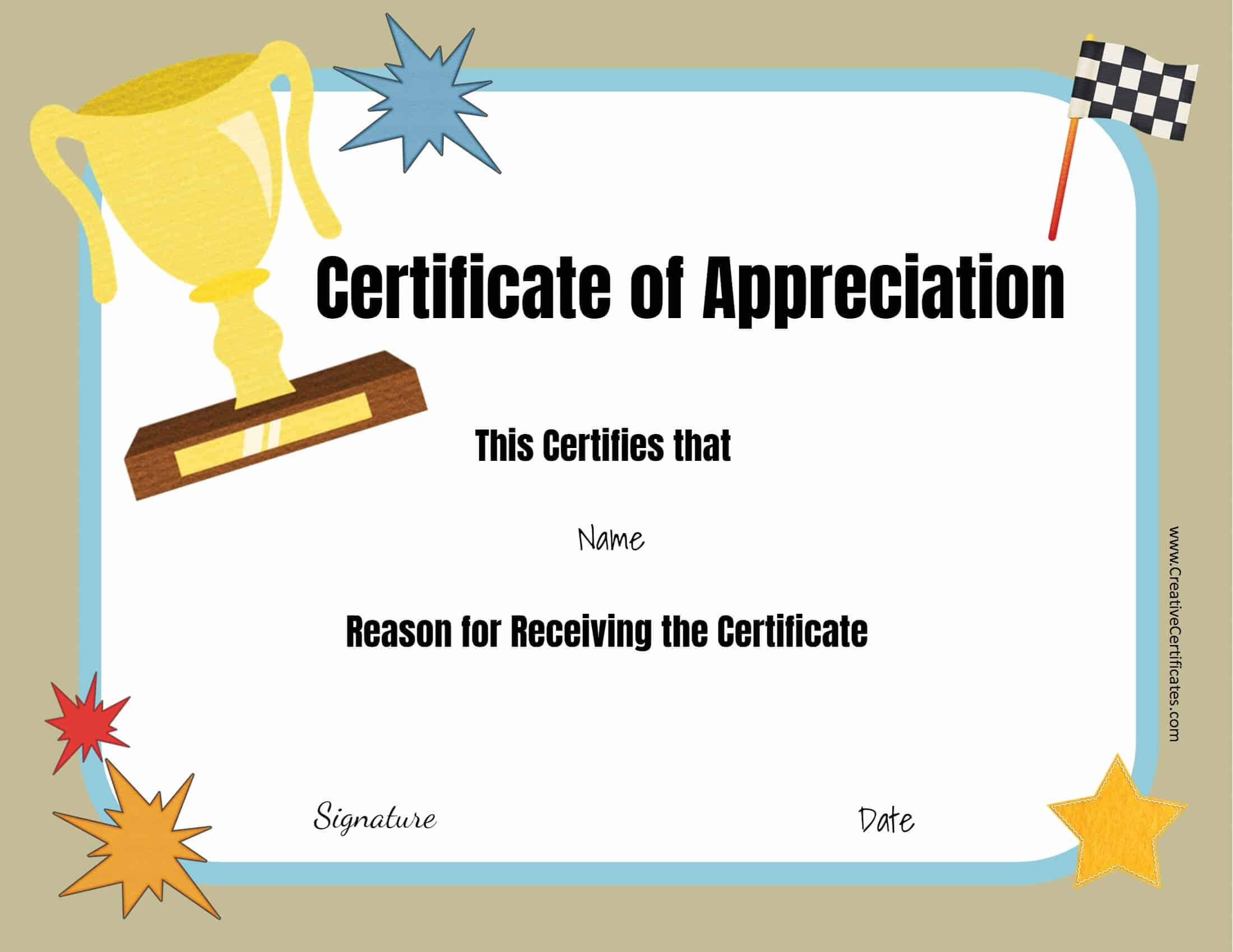 Free Certificate Templates In Free Funny Award Certificate Templates For Word