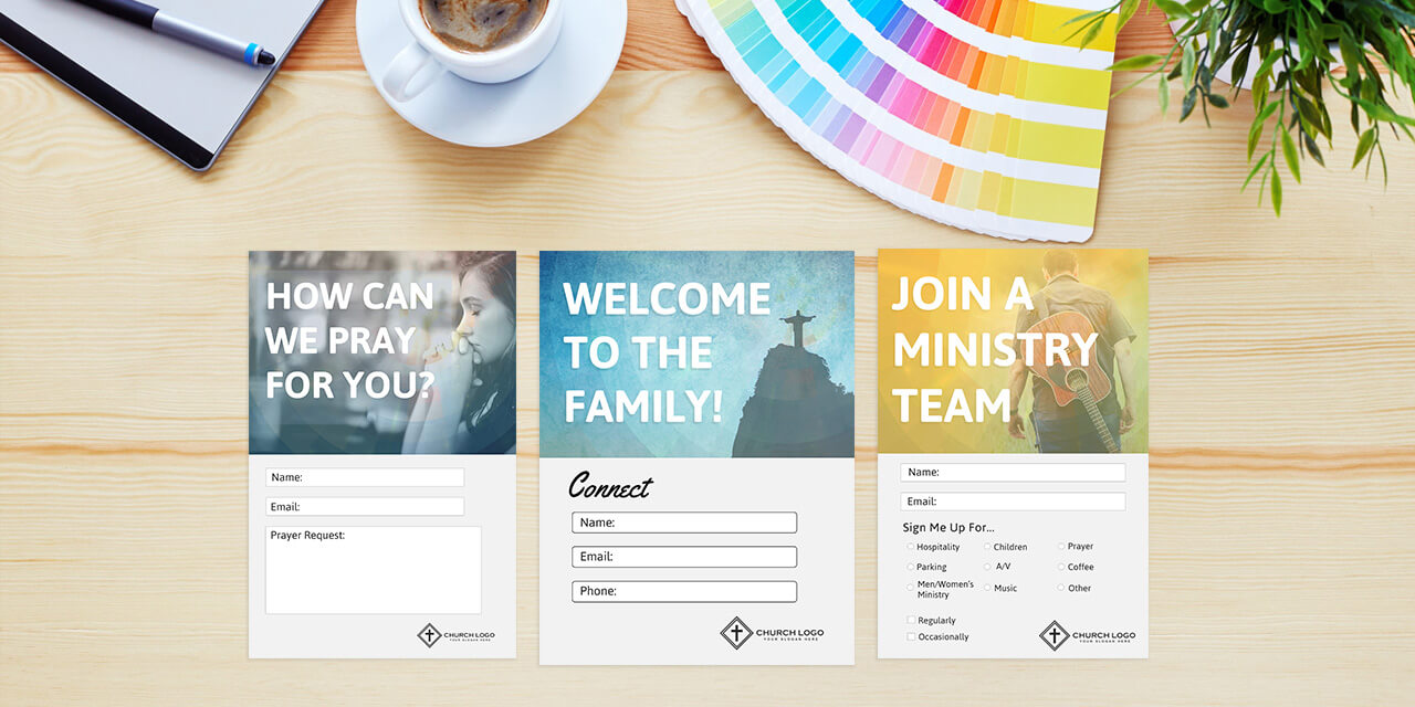 Free Church Connection Cards - Beautiful Psd Templates Intended For Decision Card Template