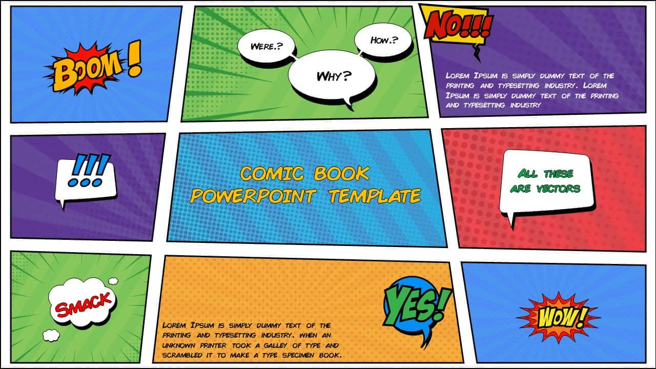 Free Comic Book Powerpoint Template For Download | Slidebazaar Intended For Powerpoint Comic Template