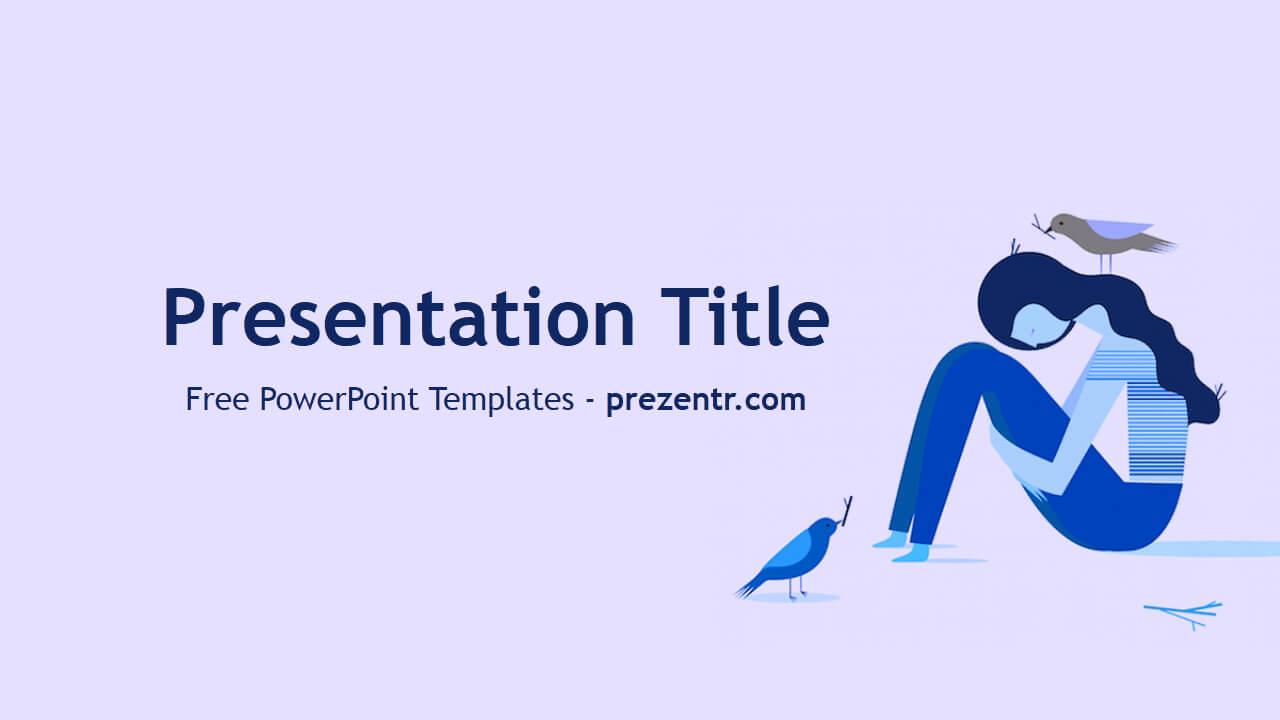Free Depression Powerpoint Template - Prezentr Powerpoint With Regard To Depression Powerpoint Template