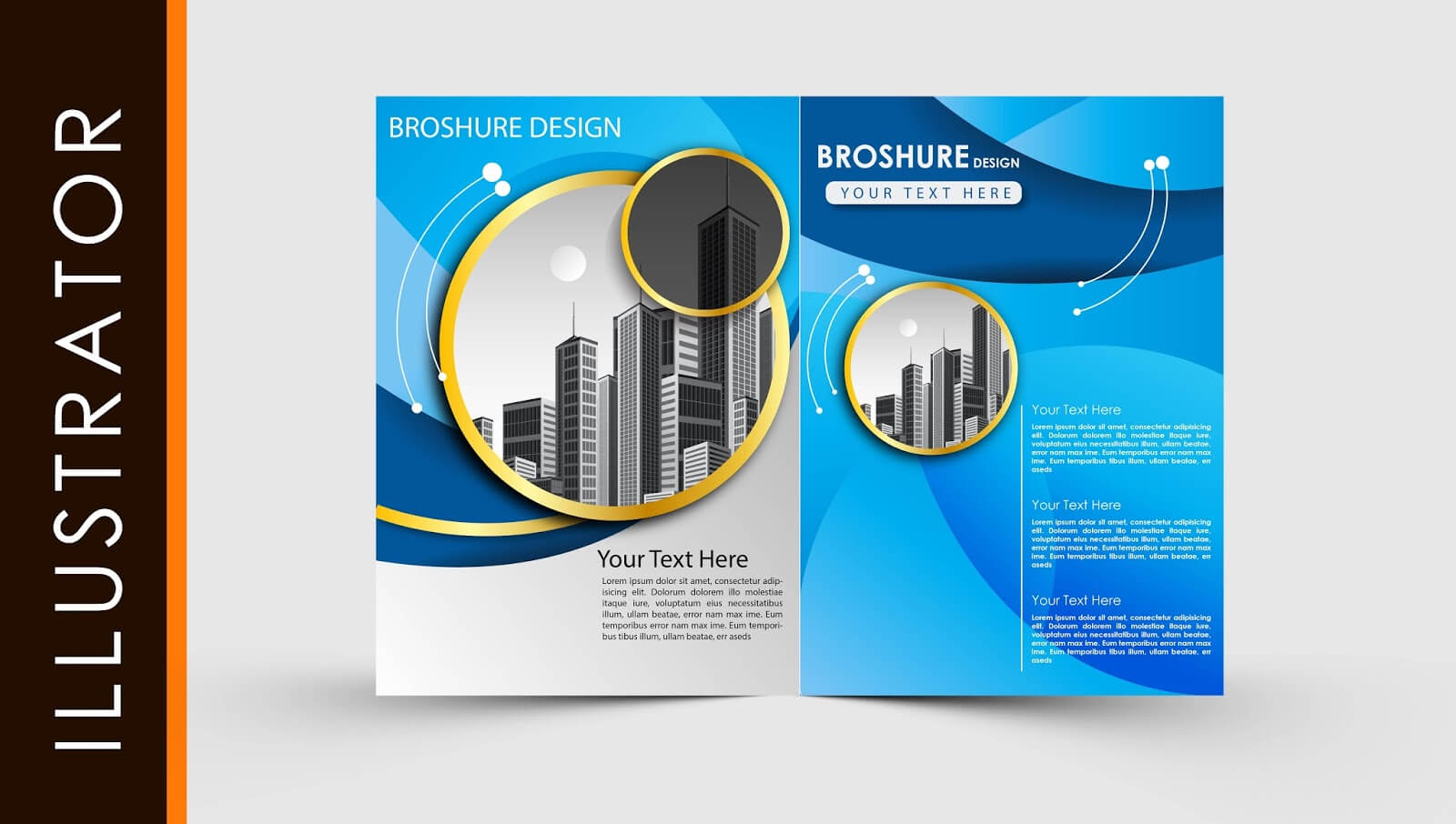 Free Download Adobe Illustrator Template Brochure Two Fold For Adobe Illustrator Brochure Templates Free Download
