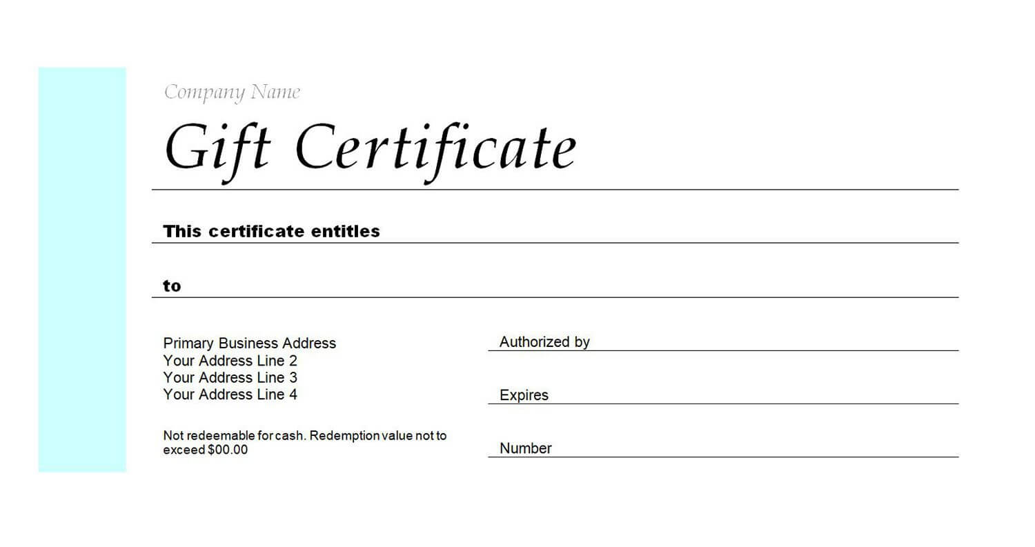 Free Gift Certificate Templates You Can Customize For Fillable Gift Certificate Template Free