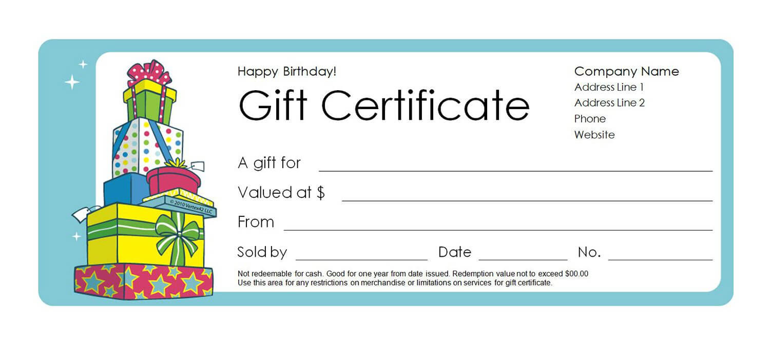 Free Gift Certificate Templates You Can Customize Inside Microsoft Gift Certificate Template Free Word