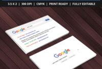 Free Google Interface Business Card Psd Template On Behance for Google Search Business Card Template