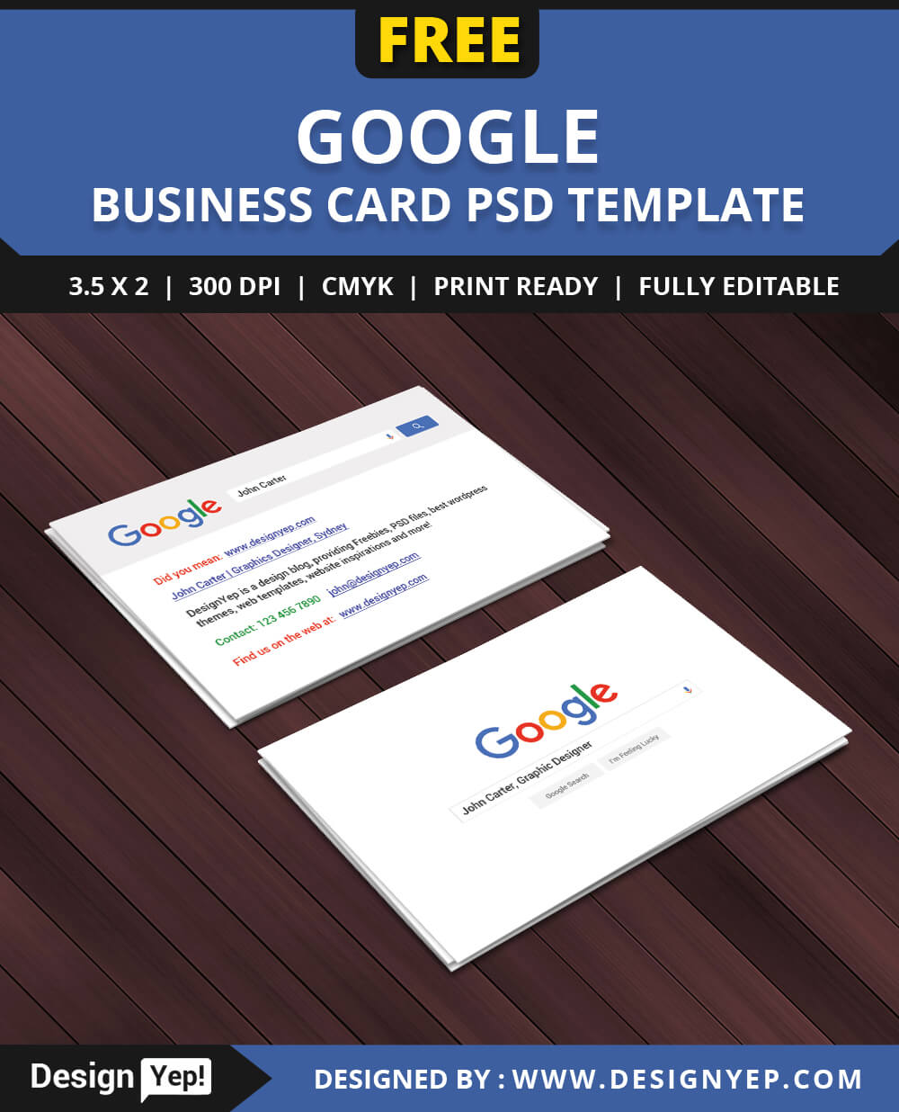 Free Google Interface Business Card Psd Template On Behance For Google Search Business Card Template