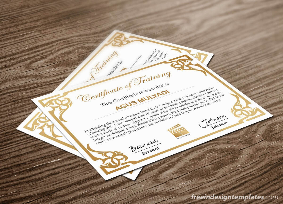 Free Indesign Certificate Template #1   Free Indesign Throughout Indesign Certificate Template