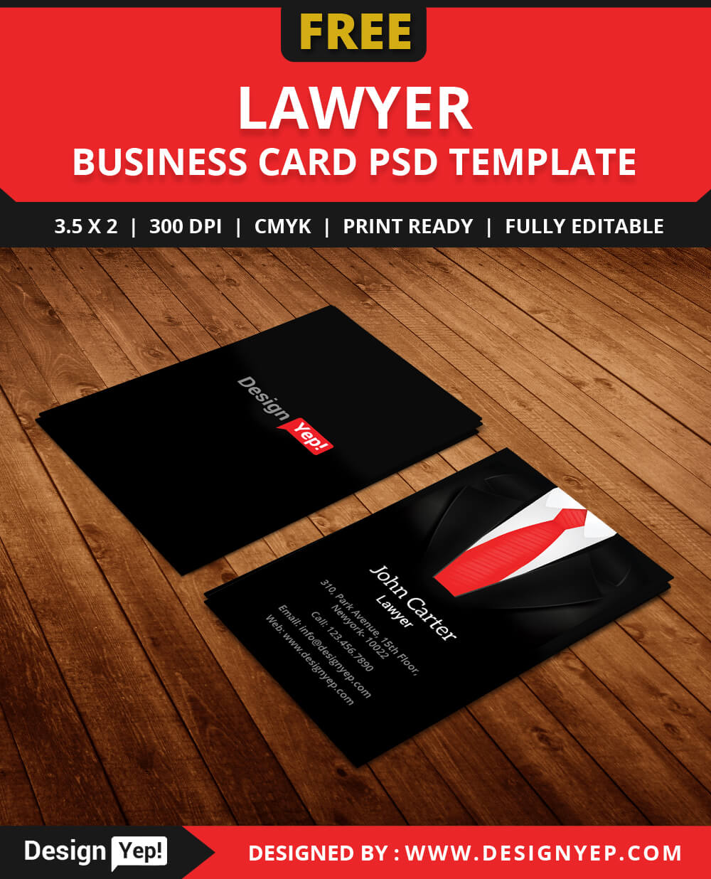 Free Lawyer Business Card Template Psd – Designyep Pertaining To Call Card Templates