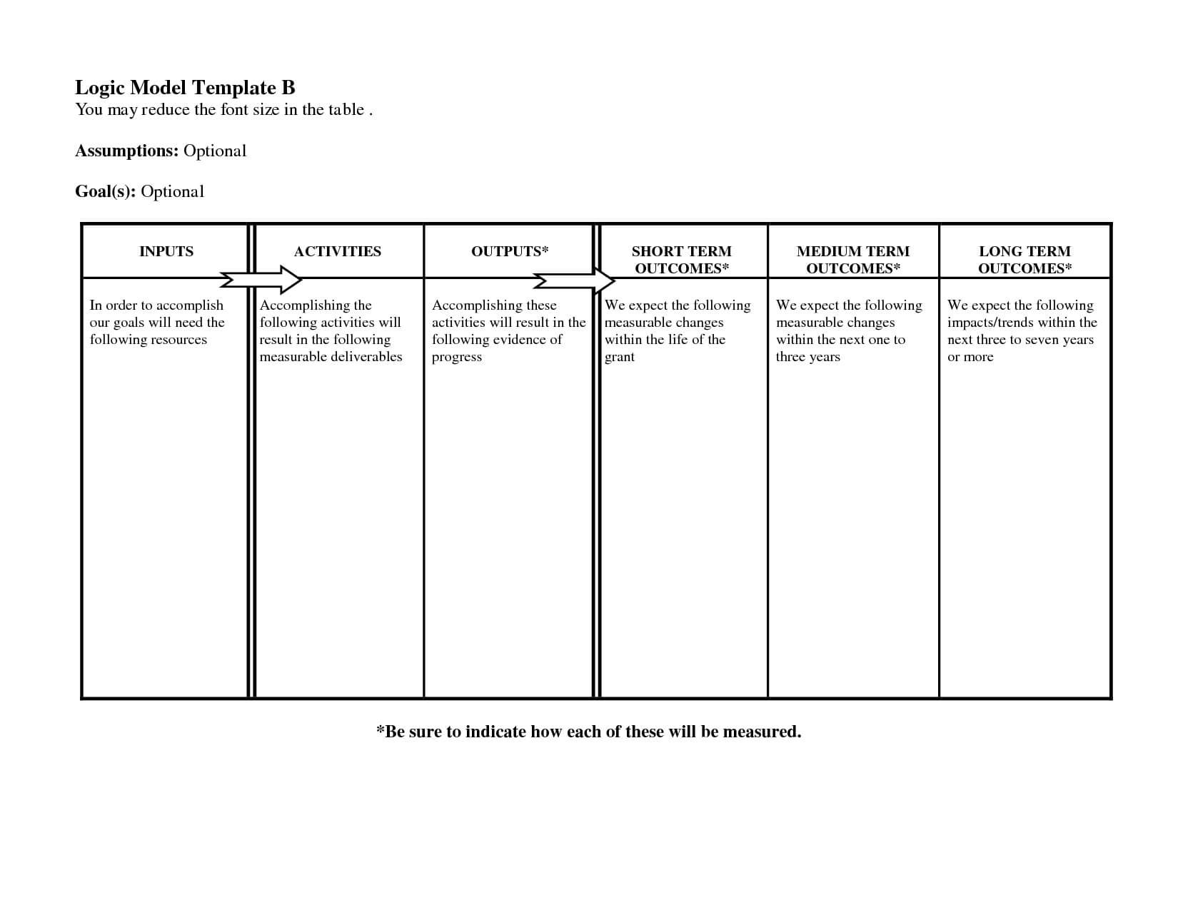 Free Logic Templates Download ] - Of Social Media Marketing With Regard To Logic Model Template Word