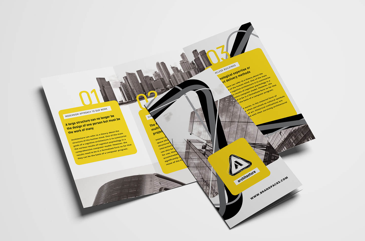 Free Modern Trifold Brochure Template For Photoshop With Fancy Brochure Templates