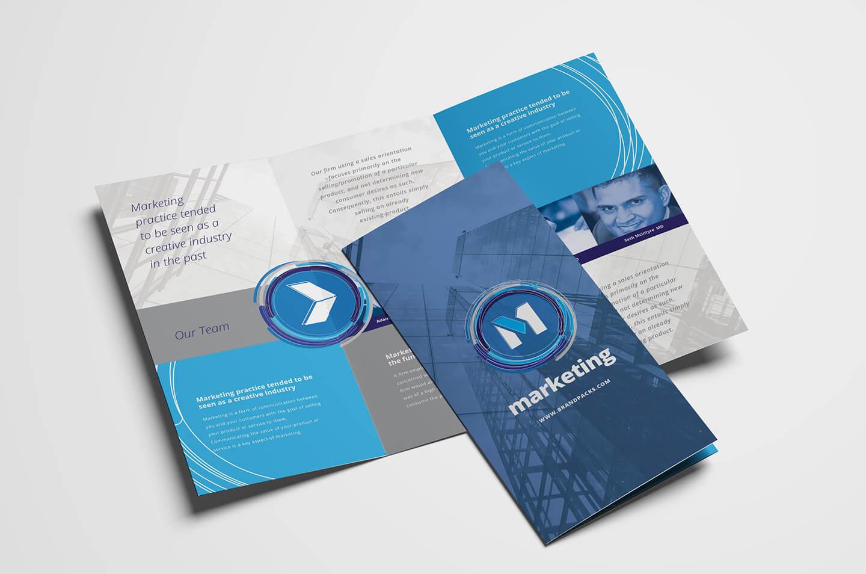 Free Multipurpose Trifold Brochure Template For Photoshop With Tri Fold Brochure Template Illustrator Free