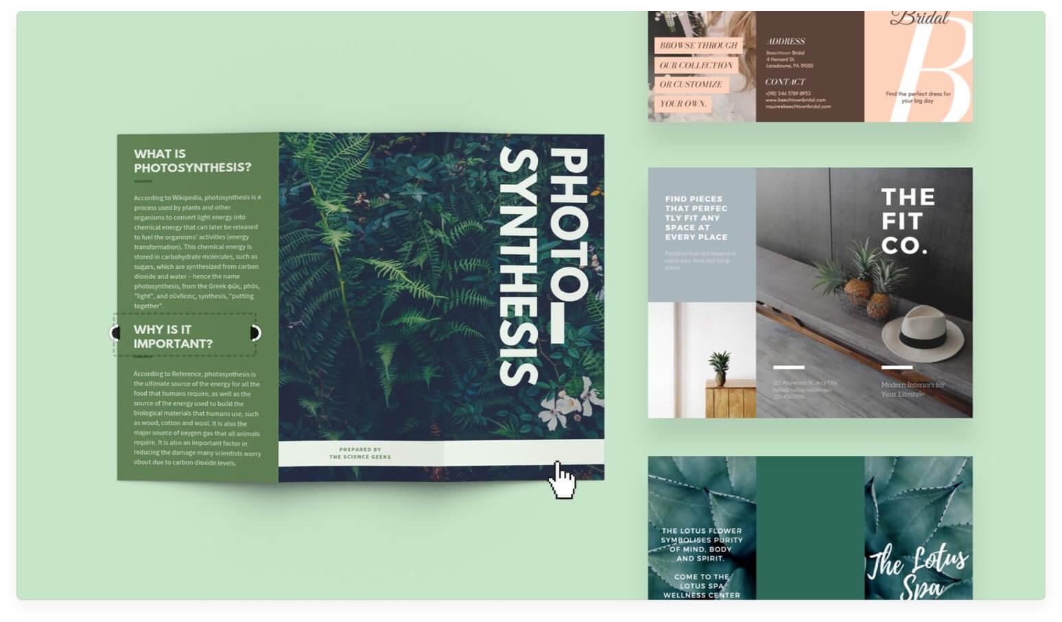 Free Online Brochure Maker: Design A Custom Brochure In Canva With Regard To E Brochure Design Templates