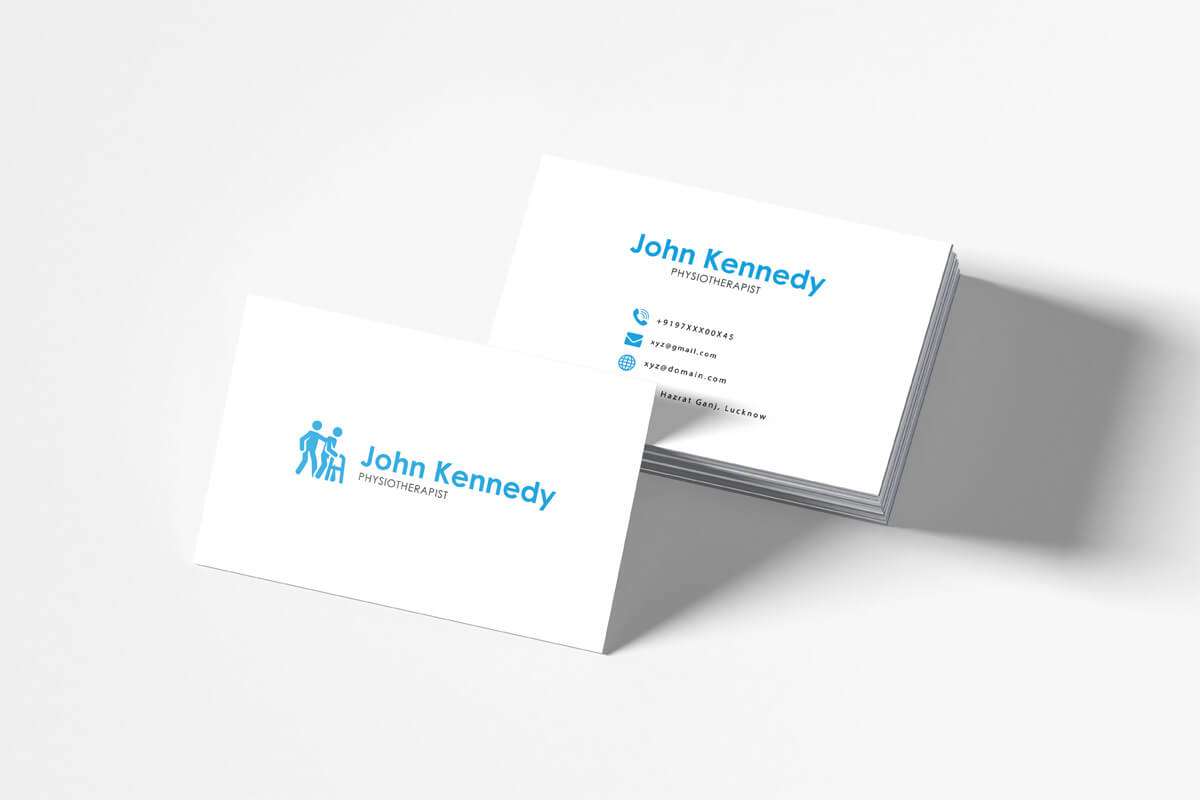 Free Physiotherapy Business Card Template - Creativetacos With Template For Calling Card