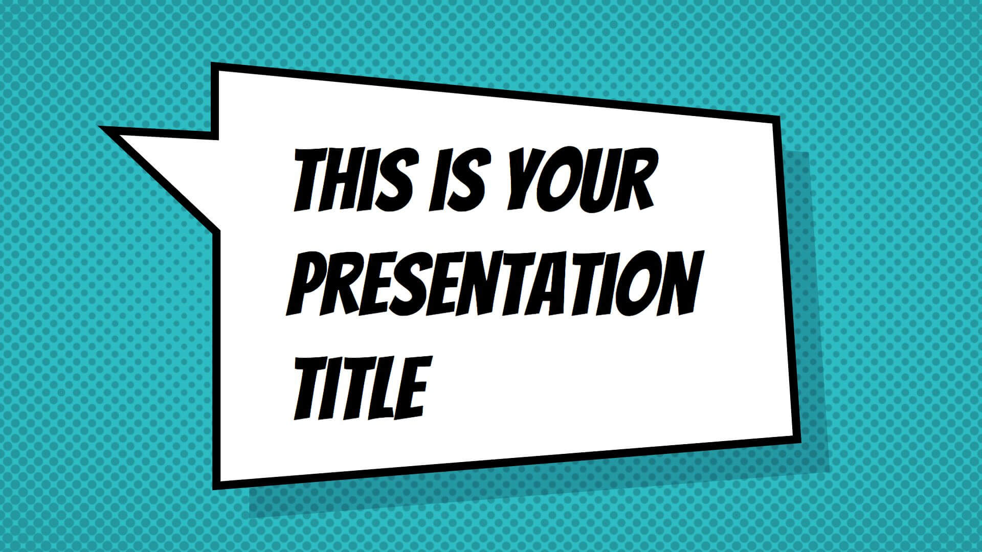 Free Powerpoint Template Or Google Slides Theme With Pertaining To Comic Powerpoint Template