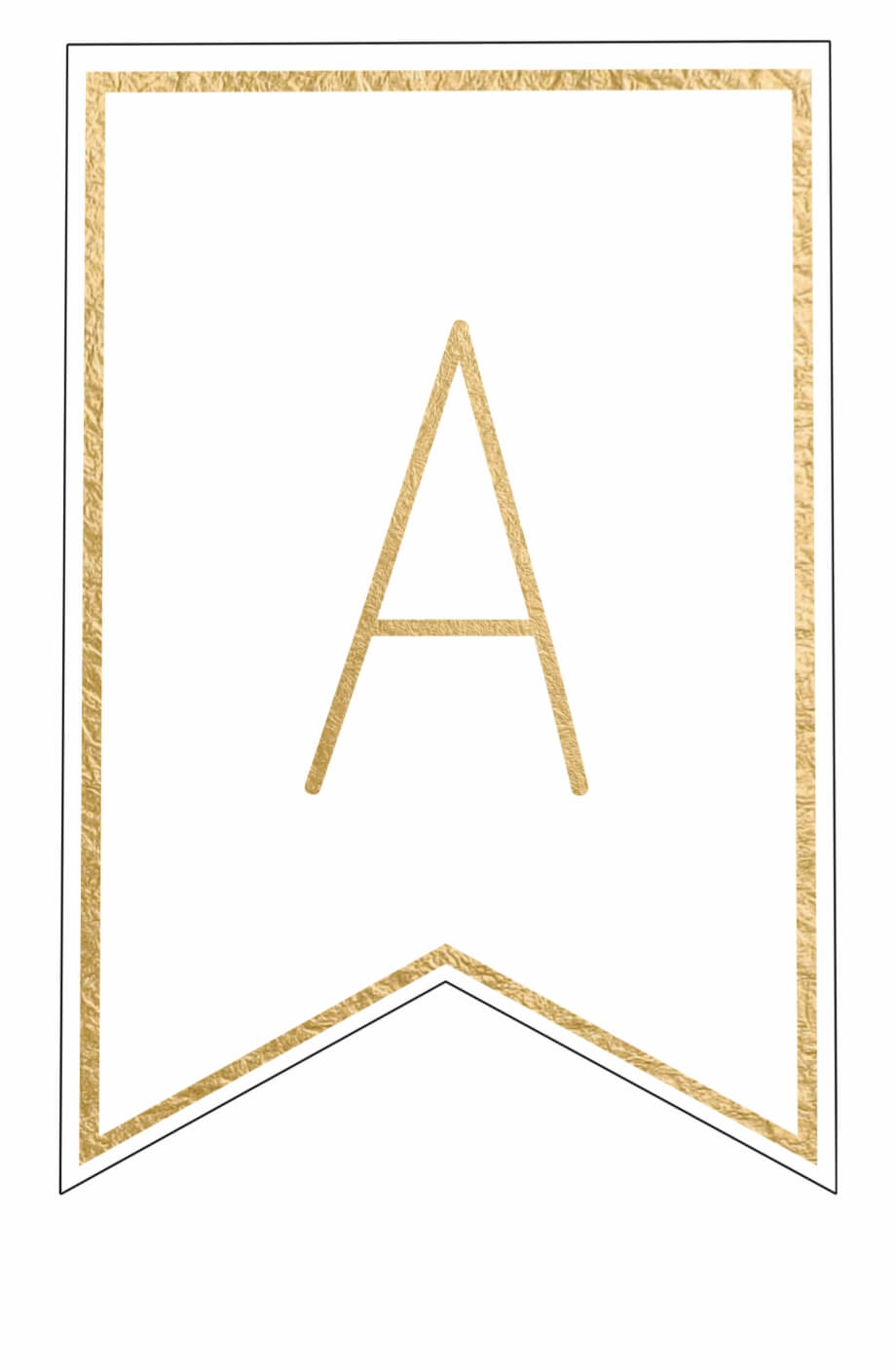 Free Printable Banner Letters Template - Letter Png Gold Within Printable Letter Templates For Banners